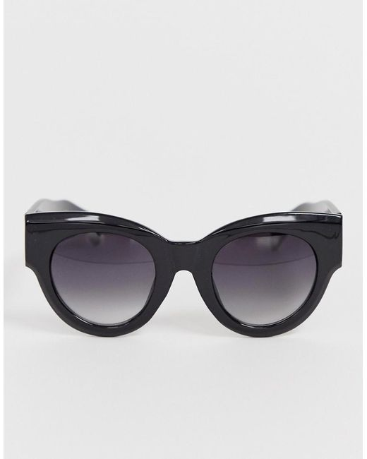 546bbf3955 A.J. Morgan Chunky Cat Eye Sunglasses In Black in Black for Men - Lyst