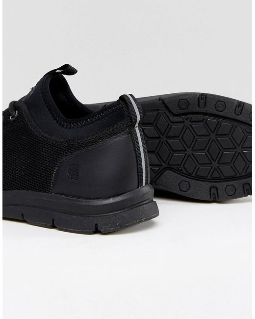 Lace up Mesh Detail Trainer - Black G-Star Cf17qf0