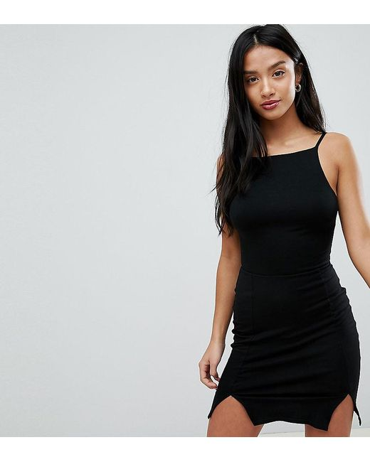 ccc8a1ad2b7 ASOS - Black Bodycon Mini Dress With Strappy Back - Lyst ...