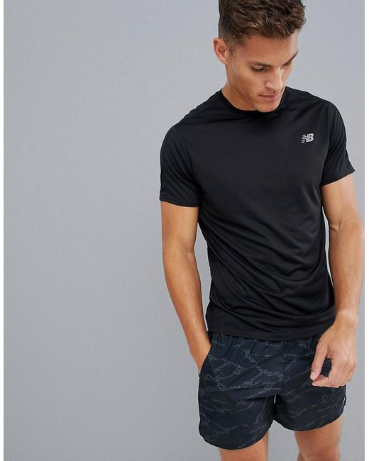 85781483d0375 New Balance Running Accelerate T-shirt In Black in Black for Men - Lyst