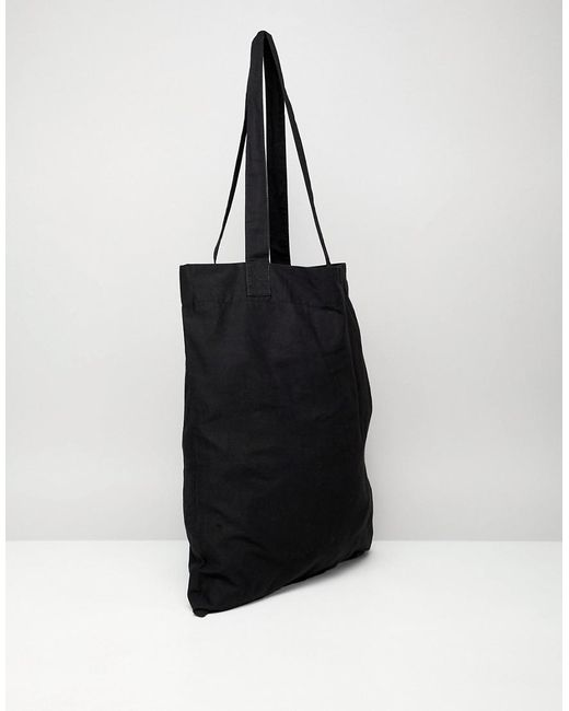82420a4be ... ASOS - Organic Tote Bag In Black With Subliminal Print for Men - Lyst