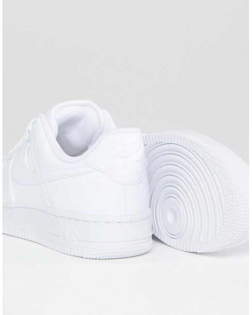 Nike Air Force 1 Trainers In White Snakeskin Trim in White Lyst