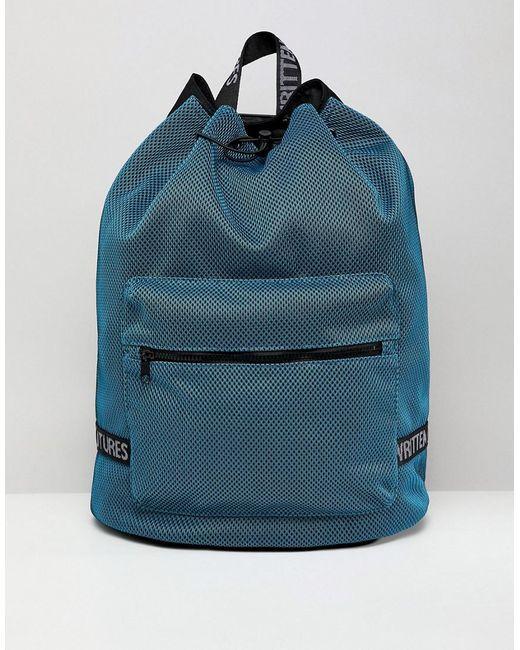 c3d5aaba7e ASOS - Blue Sac dos bourse en tulle avec poche pour ordinateur portable  interne for Men ...