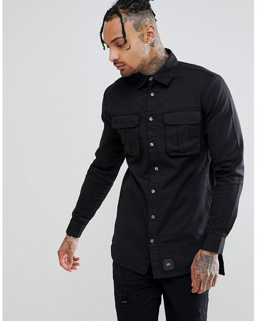 Sixth June - Cargo Shirt In Black for Men - Lyst