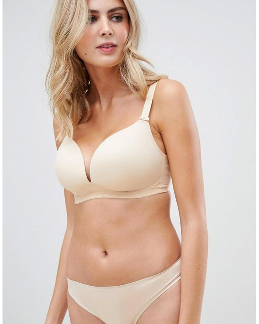 dfbf37a6b7419 Freya - Natural Deco Fuller Bust Moulded Soft Cup Bra In Beige - Lyst ...