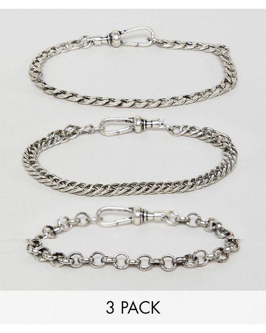 Reclaimed (vintage) - Metallic Silver for Men - Lyst