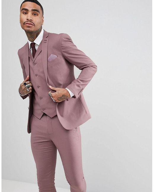 Rudie - Pink Wedding Pastel Skinny Fit Suit Jacket for Men - Lyst