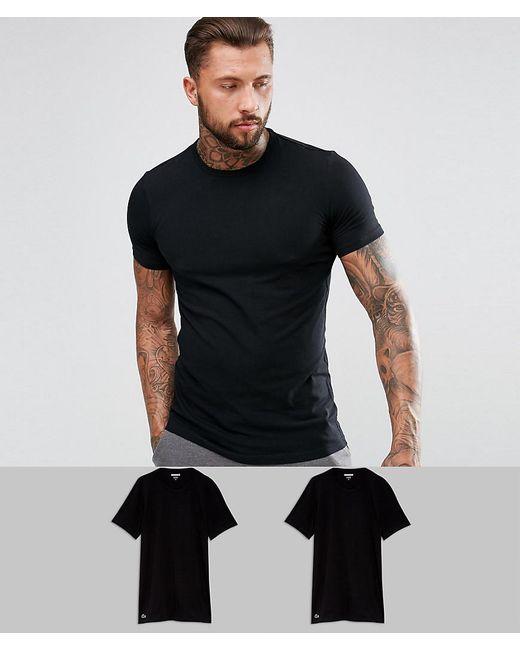 bester Ort für beste Wahl angenehmes Gefühl Men's Crew T-shirt 2 Pack Slim Fit Black
