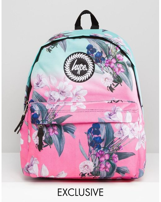 Hype Exclusive Ombre Floral Backpack in Multicolor ...