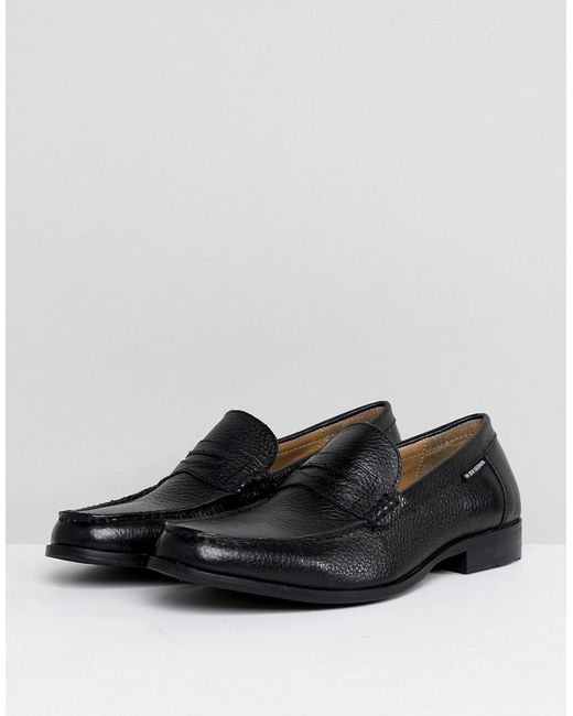 Ben Sherman Penny Loafers In Pebble Leather Tdbv6iCu