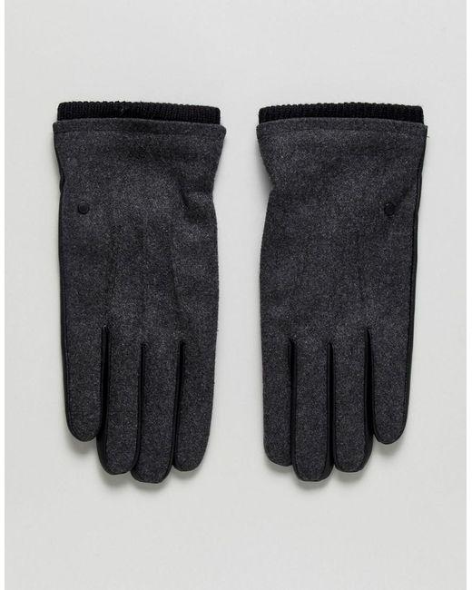 SELECTED - Gray Simon Gloves for Men - Lyst