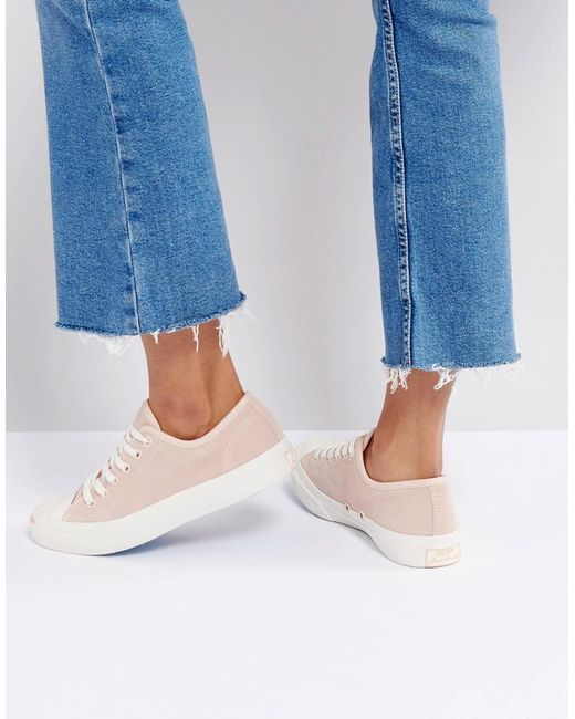 Converse | Jack Purcell Suede Trainers In Dusky Pink | Lyst
