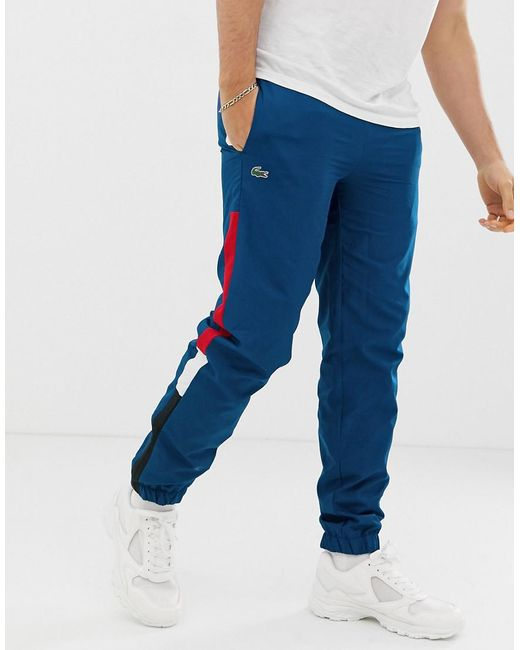 Lacoste Blue Side Stripe jogging Bottoms for men