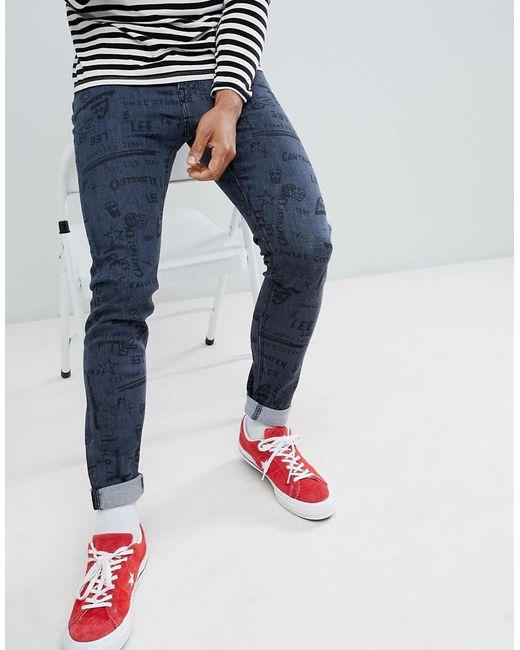 Lee Jeans - Blue Malone Super Skinny Jeans In Doodle Wash for Men - Lyst