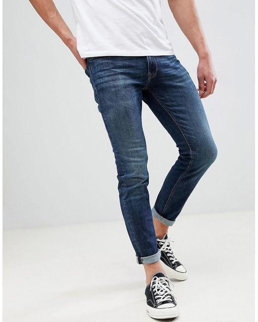 39810055d223 Jack   Jones - Blue Intelligence Liam Skinny Fit Turn Jeans With Turn Ups  for Men ...