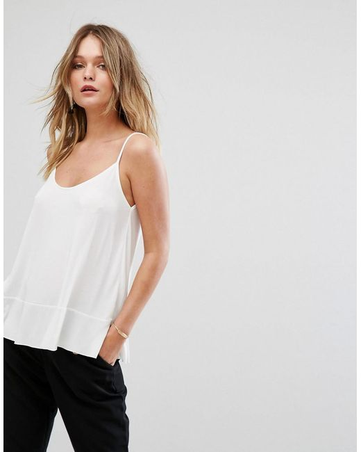 Mango | White Scoop Front Cami Top | Lyst