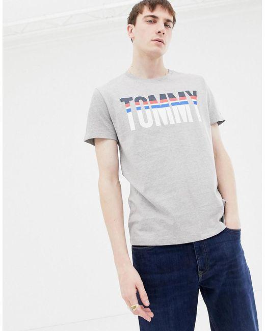 196eea669bda3 Tommy Hilfiger - Gray Graphic T-shirt for Men - Lyst ...