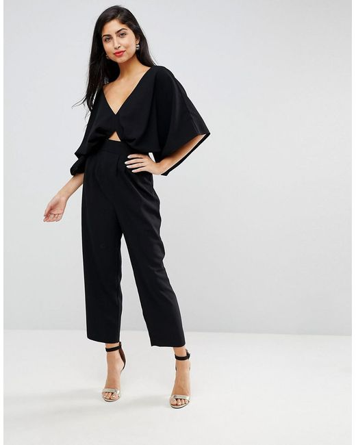 Buy Cheap Find Great ASOS DESIGN Tall Jumpsuit With Kimono Sleeve And Peg Leg - Yellow Asos Tall Reliable Cheap Online Cheap Sale Purchase Outlet With Credit Card DhxrMoE10