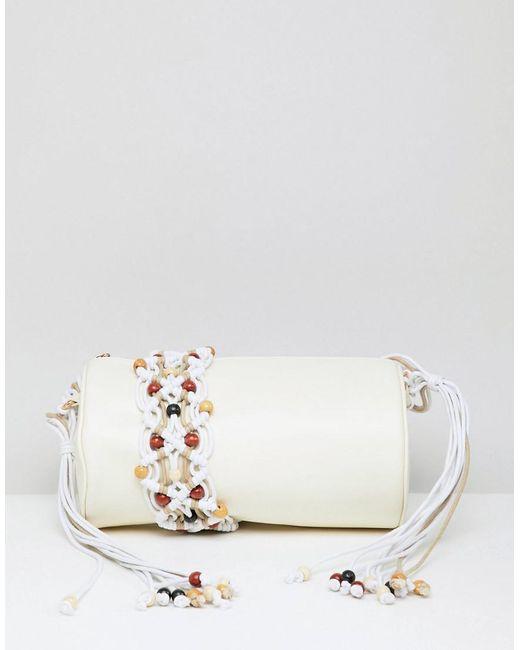 ASOS - Multicolor Macrame Cylinder Cross Body Bag - Lyst