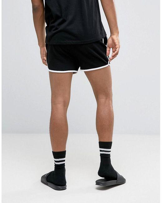 ... ASOS - Jersey Runner Shorts In Black for Men - Lyst ...