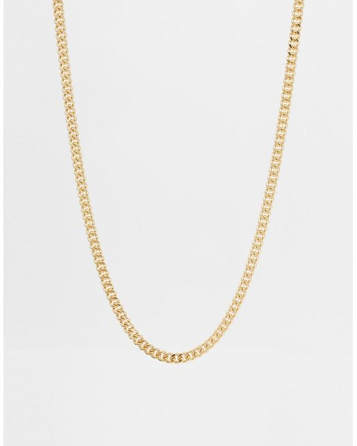ASOS | Metallic Midweight Chain for Men | Lyst