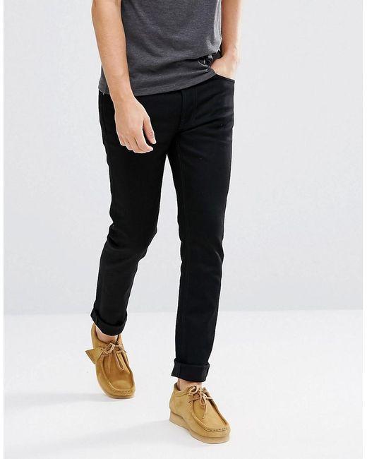 Nudie Jeans - Co Fearless Freddie Loose Taper Jean Dry Black Yd for Men - Lyst