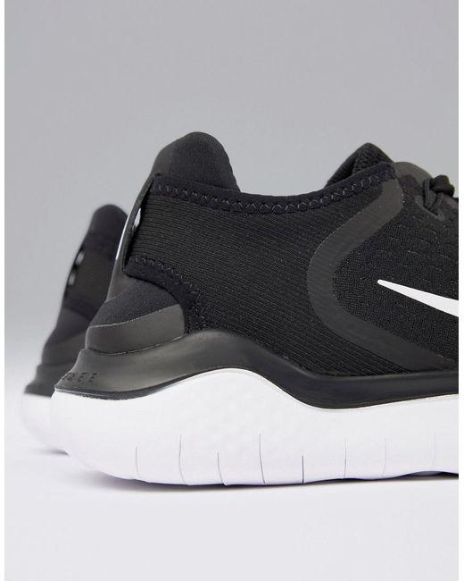 Nike Free Run 2018 Trainers In Black 942836 001 in Black for Men Lyst