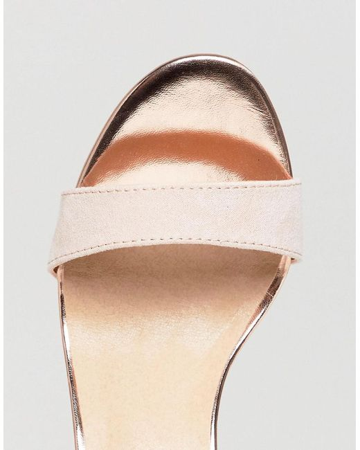 Barely There Heeled Sandals - Pink Oasis pM68w