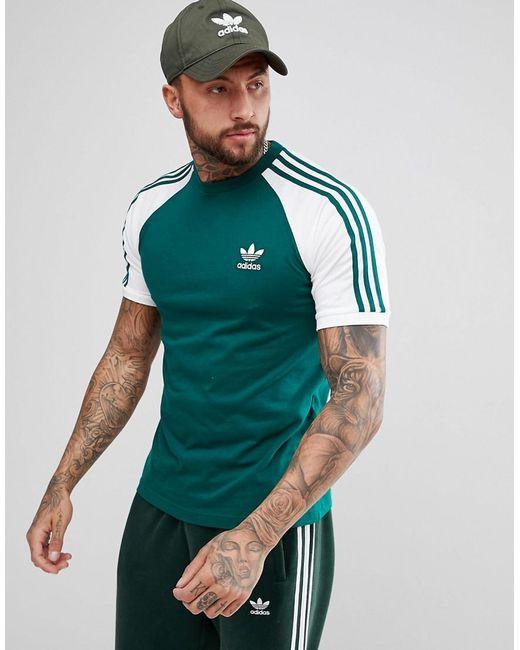 Adidas Originals Adicolor Raglan California camiseta en verde cw1206