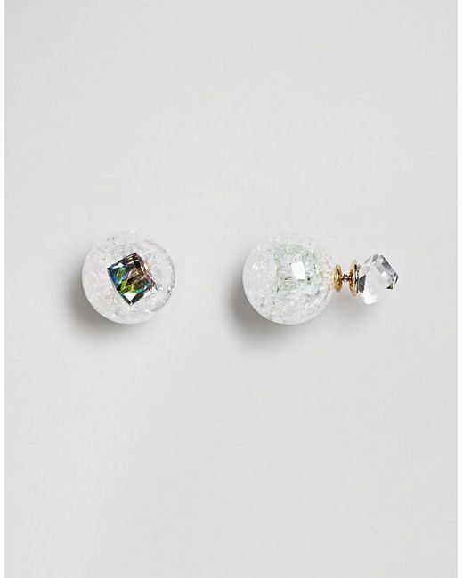 ASOS | Metallic Mermaid Dust Double Bubble Earrings | Lyst