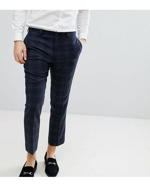 Slim Wool Mix Cropped Trouser - Navy Noak 8V1WCic