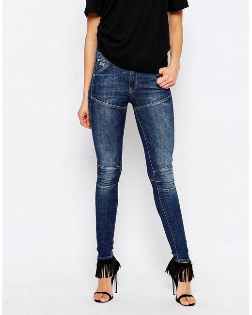 G-Star RAW | Blue Elwood 5620 Ultra High Super Skinny Jeans | Lyst