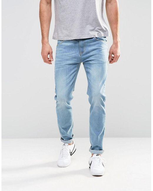 Lyst - ASOS Asos Stretch Slim Jeans In Light Blue Wash in Blue for Men d0f960582