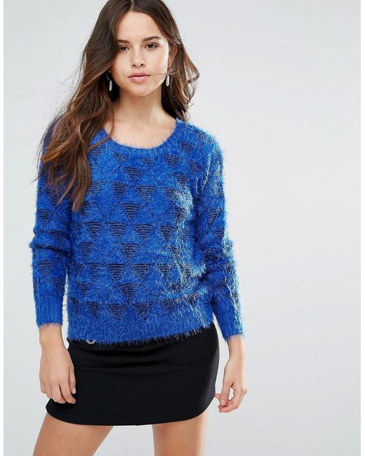 Louche - Blue Arif Fluffy Knit Sweater - Lyst