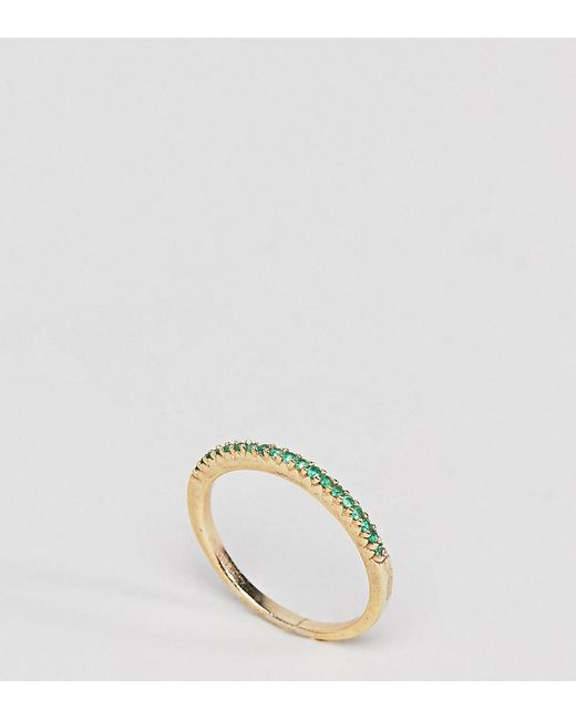 Shashi 18K Gold Pave Sapphire Crystal Ring - Gold fPjFpMS