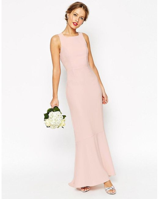 ASOS   Natural Wedding Maxi With Fishtail   Lyst