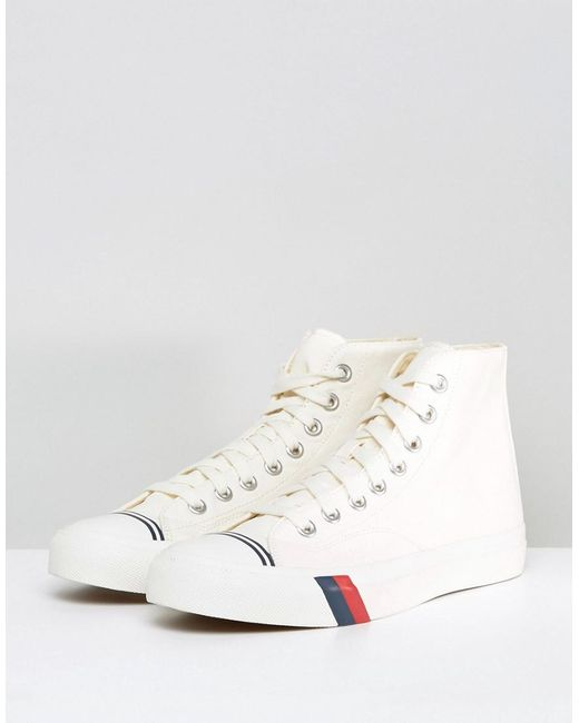 Royal Hi Top Canvas Plimsolls - White Keds Limited New Discount In China Best Store To Get Online GTSxyL