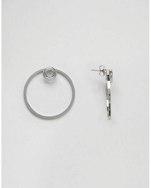 Cheap Monday | Metallic Circle Detail Earrings | Lyst
