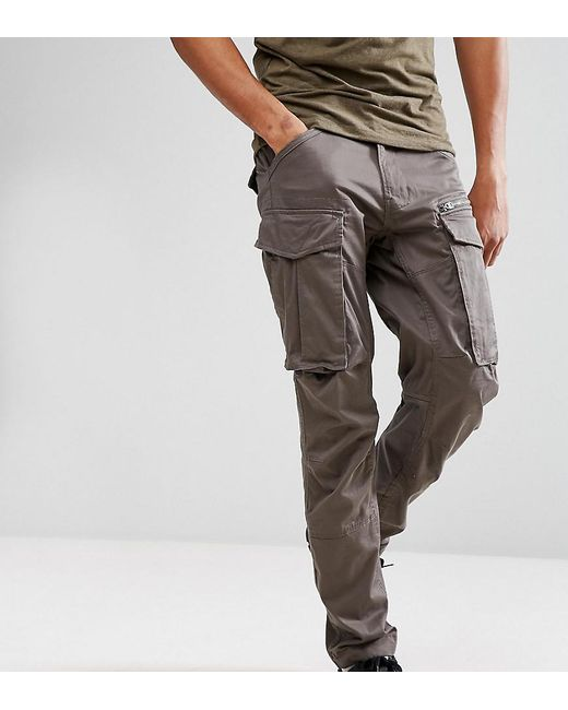 latest style of 2019 wide selection of colours and designs shop for newest G-Star RAW Cotton Rovic Zip Cargo Pants 3d Tapered in Gray ...