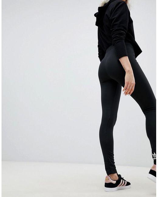check out 353b9 604d9 ... Adidas Originals - Originals Adicolor Trefoil Leggings In Black - Lyst