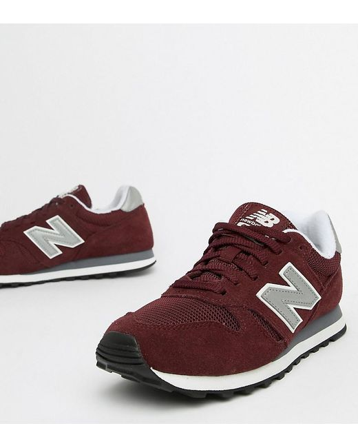 f6900e0bf7354 ... good new balance red burgundy suede 373 trainers lyst 4cb50 4a913