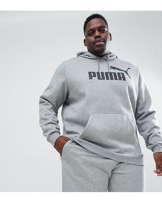 2ec9ba95 PUMA - Gray Plus Essentials Pullover Hoodie In Grey 85174303 for Men - Lyst  ...