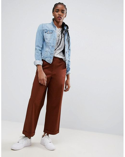 ASOS | Red Loose Fit Chino Pants In Rust | Lyst