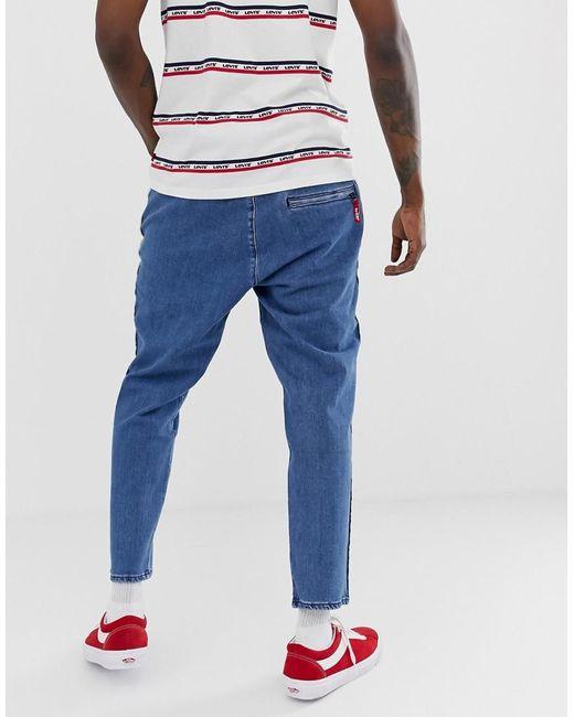 132a8b23840f ... Levi's - Blue Side Stripe Logo Jeans for Men - Lyst