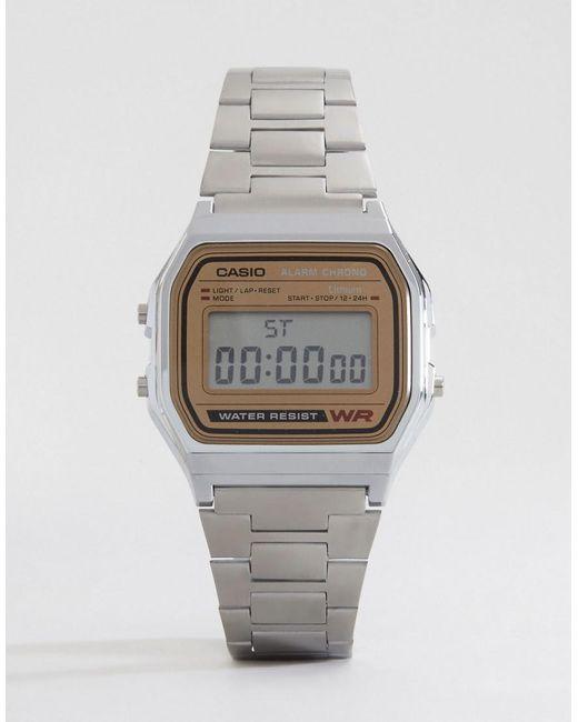 G-Shock - Metallic Classic Retro Digital Watch A158wea-9ef - Lyst