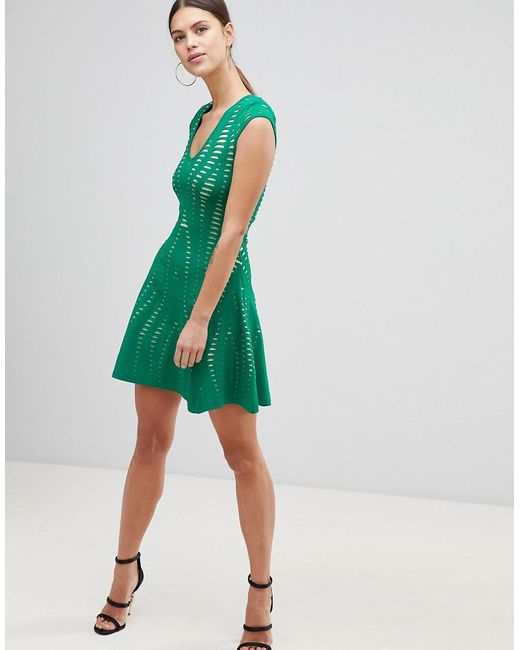 Buy Cheap Low Price Textured A Line Dress - Green Forever Unique Very Cheap Sale Online Quality Free Shipping Outlet Store Locations mcRgw