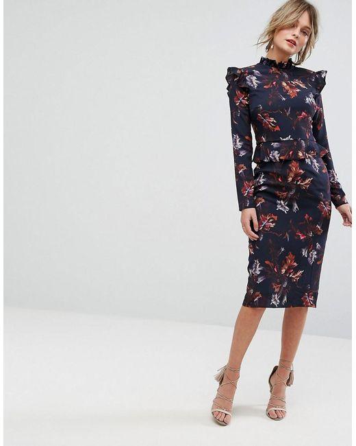 Hope & Ivy Long Sleeve Mesh Tier Dress - Black Hope & Ivy OJeu7s50m4