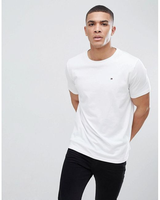 614db3a6eea6e Tommy Hilfiger - Flag Icon T-shirt In Organic Cotton In White for Men ...