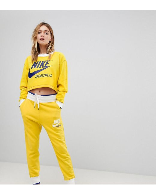 9ef2dbd4410 Nike Exclusive To Asos Archive Joggers In Yellow in Yellow - Lyst