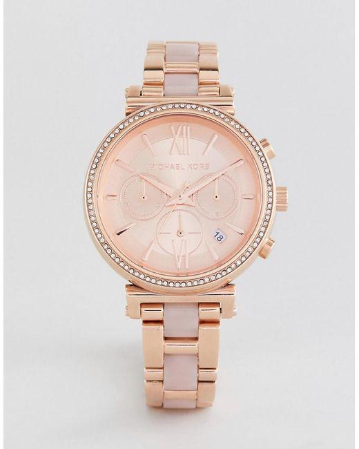 a76e6553c55c Michael Kors - Metallic Mk6560 Sofie Bracelet Watch In Rose Gold 39mm for  Men - Lyst ...